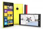 The Nokia Lumia 1520 smartphone with Windows Phone 8 operating system.