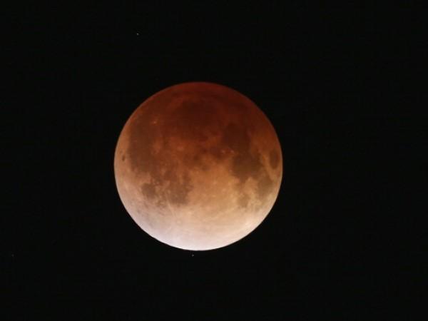 Rare Lunar Eclipse Cast Red Cast Over Moon
