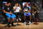 Anthony Davis, Stephen Curry, James Harden and Kevin Durant