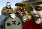 People March In Day Of The Dead Parade