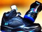 "Neon iCon Air Jordan 5 ""Aquaberry"""