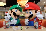 Mario and Luigi Celebrate the Release of Mario Kart 8 At McDonald's