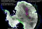Temperature Map of Antarctica