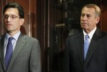 House Majority Leader Eric Cantor and House Speaker John Boehner