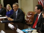 President Obama Meets with Marissa Mayer, Eric Schmidt, and other Tech companies for Healthcare.gov and NSA spying