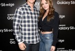 Actor Miles Teller (L) and Keleigh Sperry