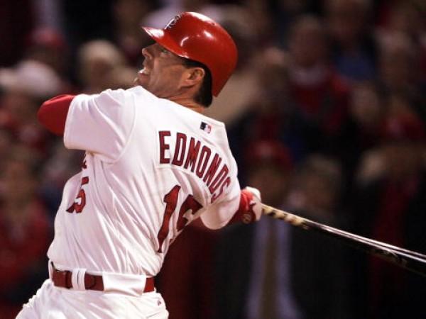 Jim Edmonds #15 of the St. Louis Cardinals