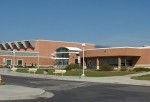 A View of the front of Poudre High School in Fort Collins, CO.