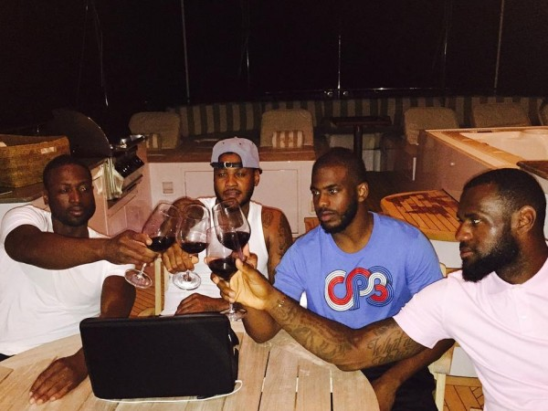 Dwyane Wade, Carmelo Anthony, Chris Paul, LeBron James