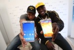 Jamaican Bobsled Team Visits Samsung Galaxy Studio