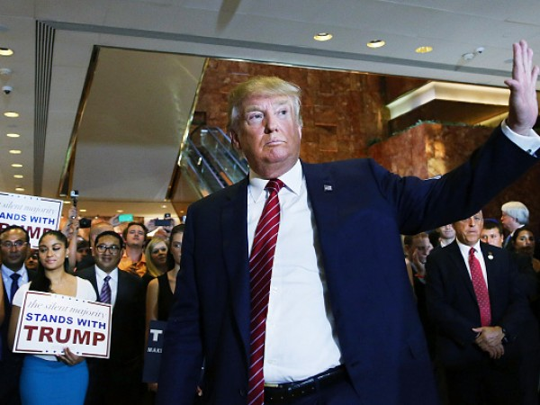 Donald Trump Holds Media Availability In New York City