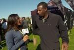 Cheyenne Woods interviewing Ken Griffey Jr.