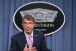 Defense Secretary Ash Carter Briefs On Russian Air Strikes In Syria