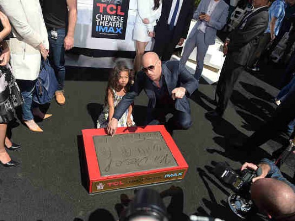 Vin Diesel Immortalized With Hand And Footprint Ceremony
