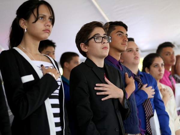 Immigrant Children Sworn In At Florida Naturalization Ceremony