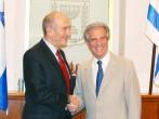 Uruguayan President Tabare Vazquez Meets With Israeli Prime Minister Ehud Olmert