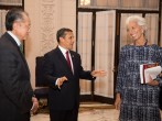 IMF Chief Lagarde Meets With Peru President Humala