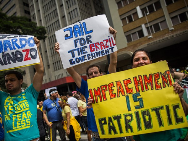 Mass Anti-Corruption Marches Across Brazil Protest Petrobras Scandal