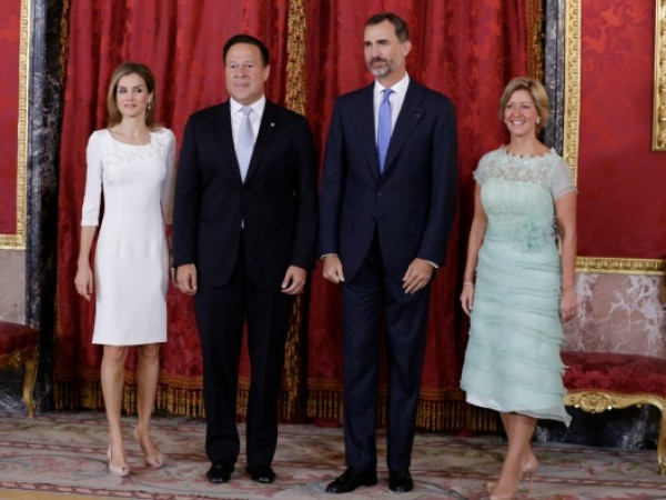 Spanish Royals Meet President of Panama and His Wife
