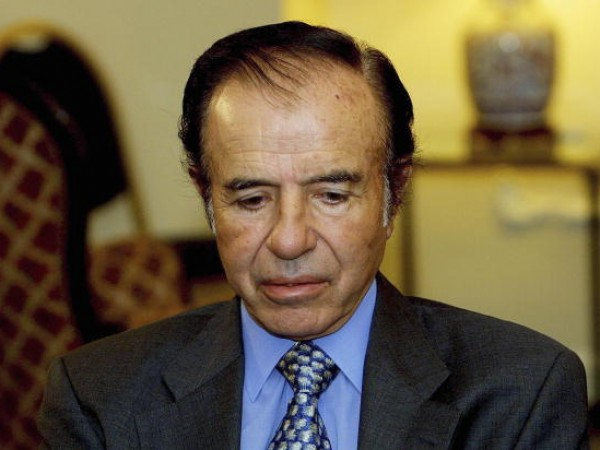 Former Argentine President Carlos Menem Faces Second Round Elections