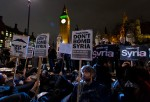 Stop The War Coalition Hold A 'Die In' Protest Before Commons Vote On Airstrikes