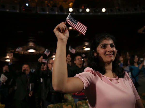 Naturalization Ceremony Held For Hundreds Of Immigrants In Oakland, California