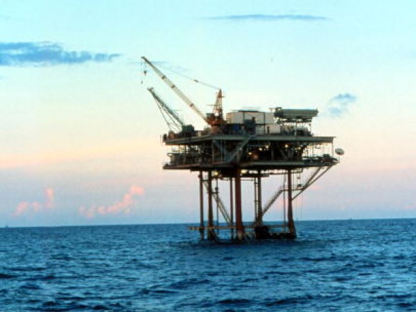 Pennzenergy Company Oil Production Platform At West Cameron 580 In The Gulf Of Mexico Du