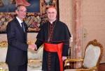 Pope Benedict XI Meets Guatemala's President Alvaro Colom Caballeros