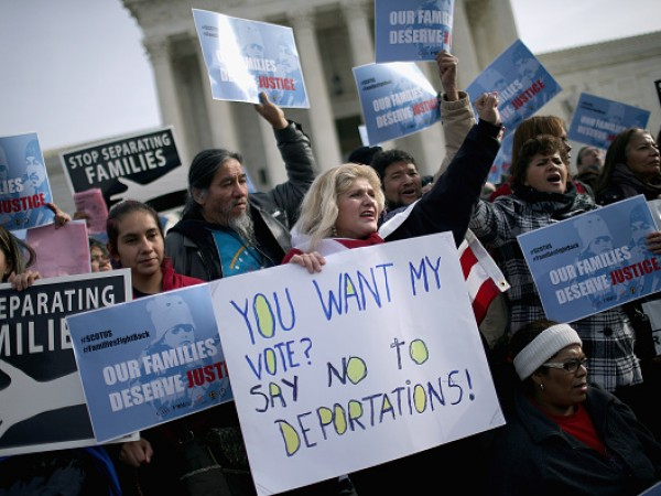 Immigration Activists Rally In Front Of U.S. Supreme Court