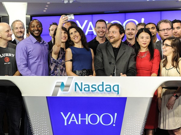 Yahoo!, Inc Rings The NASDAQ Opening Bell