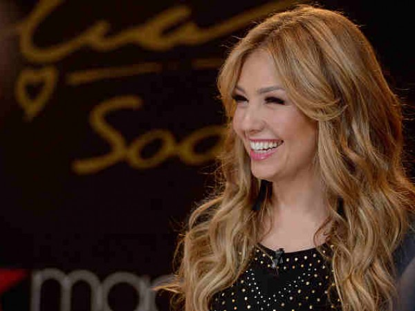 Thalia Visits Nuestra Belleza Latina Mansion