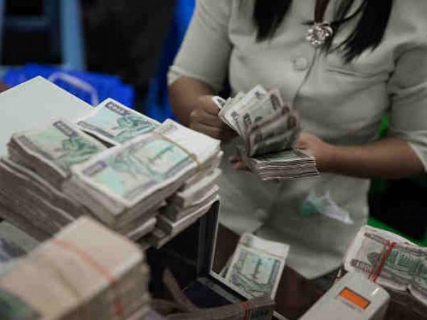 Myanmar's Money Counters Hard At Work