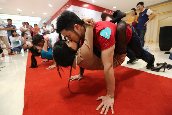 Kissing Competition During Chinese Valentine's Day In Kunming