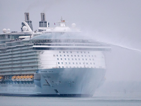 World's Largest Cruise Ship Docks In Southampton