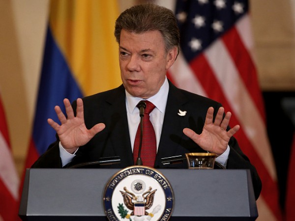 John Kerry Meets With Colombian President Juan Manuel Santos