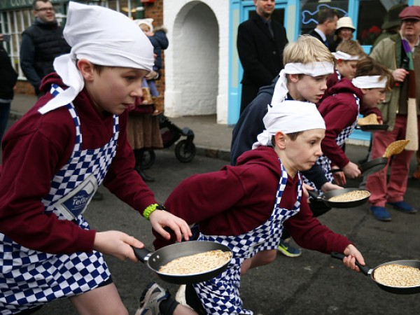 The Annual Olney Pancake Race
