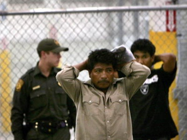 Border Patrol Processes Migrants Captured Trying To Cross To U.S.