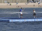Grigor Dimitrov and Eugenie Bouchard Play Water Tennis During Acapulco Open
