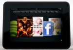 The 7-inch Amazon Kindle Fire HD.