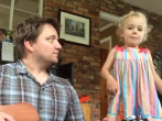 Cutest Daddy Daughter Band Ever.