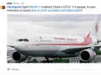 Air Algerie missing, presumed crashed.