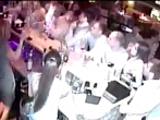 Bartender accidentally sets man's face on fire with flaming Absinthe.