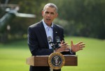 President Obama Gives Statement Before Departing White House For Martha's Vineyard Vacation