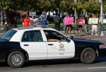 A show of force by the Los Angeles Police Department to prevent disturbances by protestors around Leimert Park during a demonstration against the acquittal of George Zimmerman in the shooting death of Florida teen Trayvon Martin on July 16, 2013 in Los An