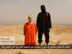 Still shot from the video claiming to capture the beheading of American journalist James Foley