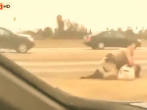 Officer caught on tape beating a woman on the freeway may face serious charges