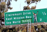 Jackass star Steve-O apparently thinks Sea World sucks, and now all of San Diego will know