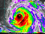 Hurricane Marie on Satellite Imagery